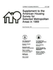 Current housing reports: Supplement to the American housing survey for selected metropolitan areas in ...