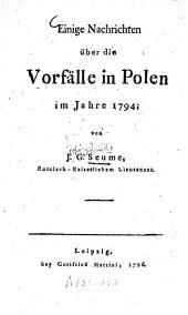 Einige Nachrichten über die Vorfälle in Polen im Jahre 1794