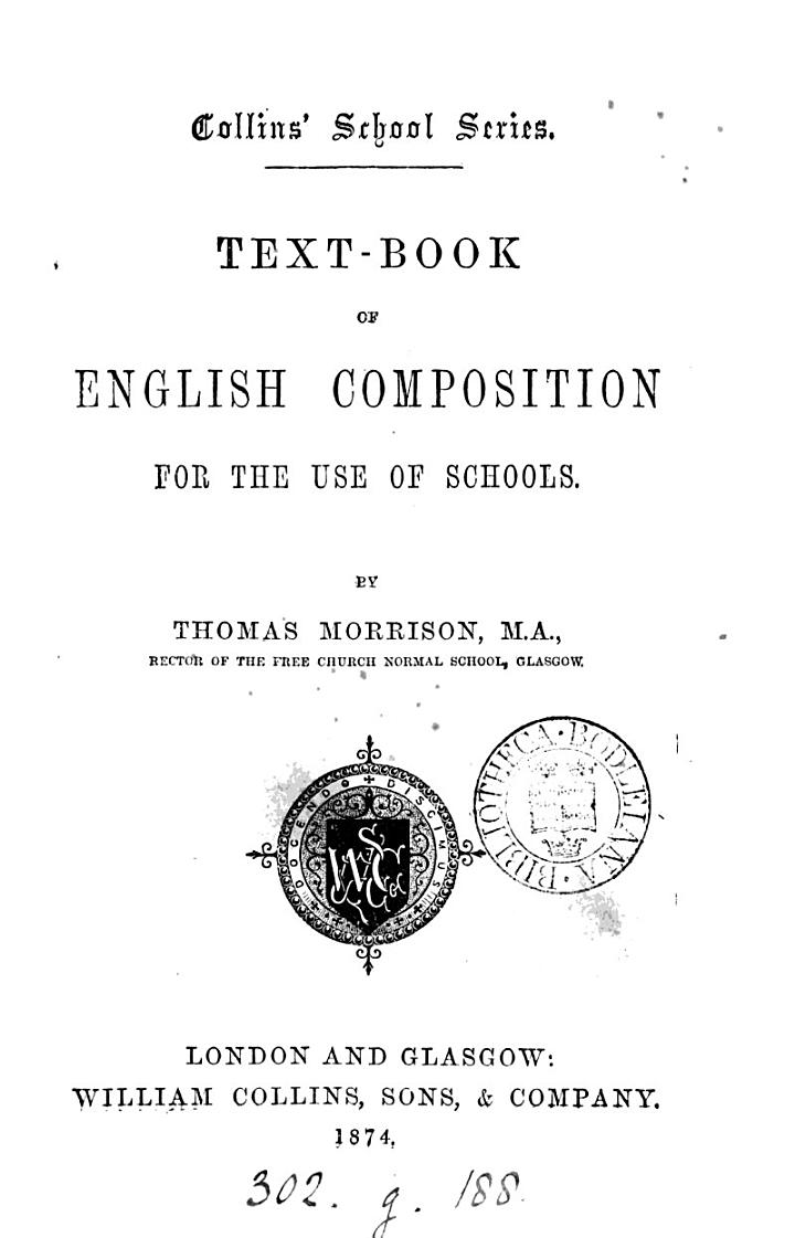 Text-book of English composition for the use of schools