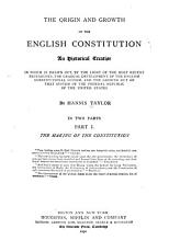 The Origin and Growth of the English Constitution PDF