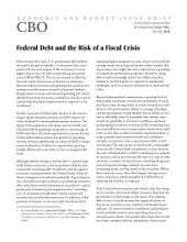 Federal Debt and the Risk of a Fiscal Crisis