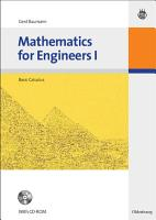 Mathematics for Engineers I PDF