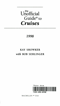 The Unofficial Guide  to Cruises  98 PDF