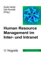 Human Resource Management im Inter  und Intranet PDF
