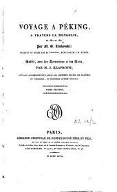 Voyage à Péking, à travers la Mongolie, en 1820 et 1821: Volume2