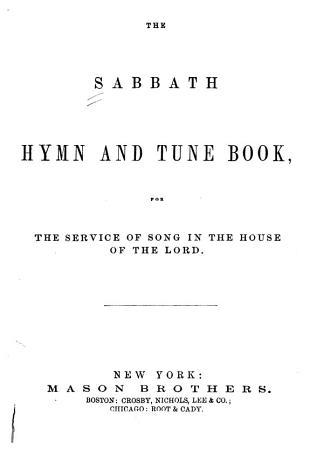 The Sabbath Hymn and Tune Book PDF
