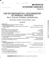 The Environmental Geochemistry of Mineral Deposits