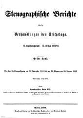 Stenographische Berichte über die Verhandlungen: Ausgabe 1