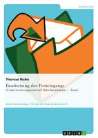 Bearbeitung des Posteingangs  Unterweisungsentwurf B  rokaufmann    frau  PDF