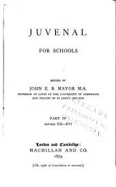 Juvenal for Schools: Satires XII-XVI