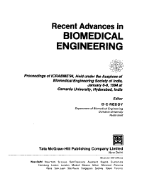 Recent Advances in Biomedical Engineering PDF