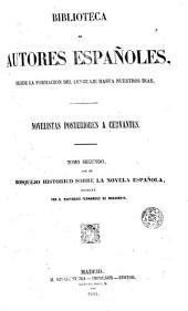 Novelistas posteriores a Cervantes: Volumen 2