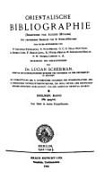 Orientalische Bibliographie PDF