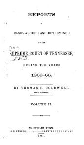 Reports of Cases Argued and Determined in the Supreme Court of Tennessee: Volume 42