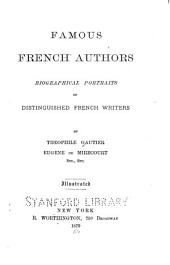 Famous French Authors: Biographical Portraits of Distinguished French Writers