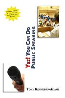 Yes You Can Do Public Speaking PDF