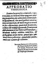 Summa processus criminalis iuxta praescriptum Caroli V. imp., Maximiliani Bav. Duc. ... et praxin communem