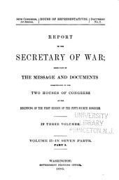 Annual Report of the Chief of Engineers to the Secretary of War for the Year ...: Part 5
