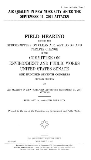 Air Quality in New York City After the September 11  2001 Attacks