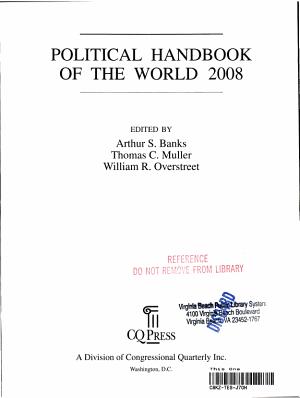 Political Handbook of the World 2008 PDF