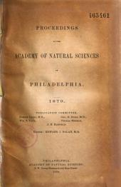 Proceedings of the Academy of Natural Sciences of Philadelphia: 1876 À 1879 Inclus