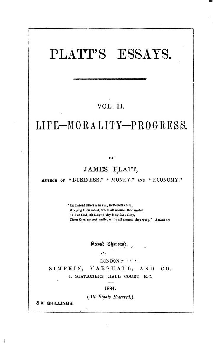 Platt's essays
