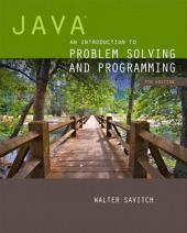 Java: An Introduction to Problem Solving and Programming, Edition 7