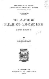 The Analysis of Silicate and Carbonate Rocks: A Revision of Bulletin 305
