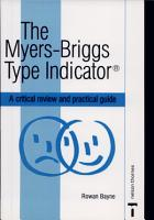 The Myers Briggs Type Indicator PDF