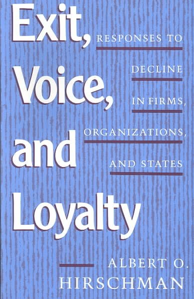 Exit Voice And Loyalty
