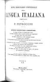 Nòvo dizionàrio universale della lingua italiana: Volume 2