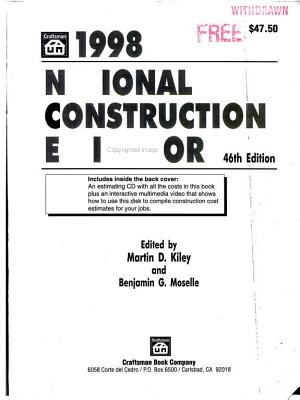 1998 National Construction Estimator PDF