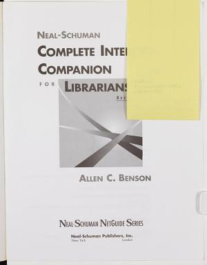 Neal Schuman Complete Internet Companion for Librarians