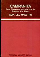 Campanita Texto Globalizado Para Los Alumnos de Segundo Ano Basico Guia Del Maestro PDF