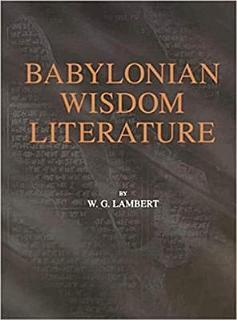 Babylonian Wisdom Literature Book