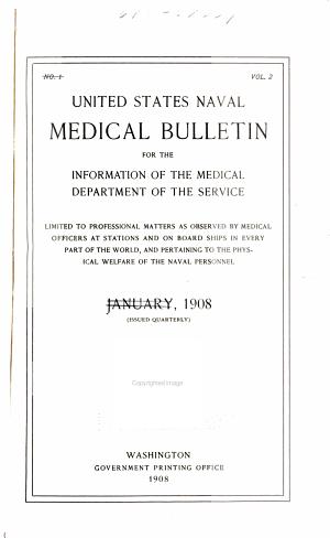 United States naval medical bulletin  v  2  1908 PDF