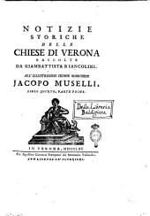 Notizie storiche delle chiese di Verona raccolte da Giambatista Biancolini ... Libro primo [-ottavo ed ultimo]: 5.1