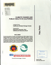 Climate Change and Public Health in California PDF