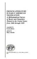 French Literature in Early American Translation PDF