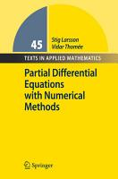 Partial Differential Equations with Numerical Methods PDF