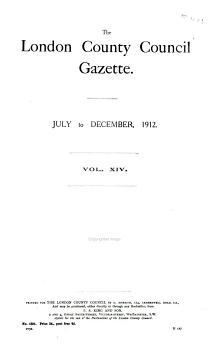 The London County Council Gazette PDF