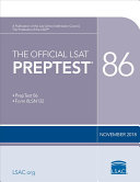 The Official LSAT PrepTest 86 Book
