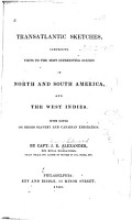 Transatlantic Sketches  Comprising Visits to the Most Interesting Scenes in North and South America  and the West Indies  With Notes on Negro Slavery and Canadian Emigration PDF