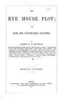 The Rye house plot  or  Ruth  the conspirator s daughter PDF