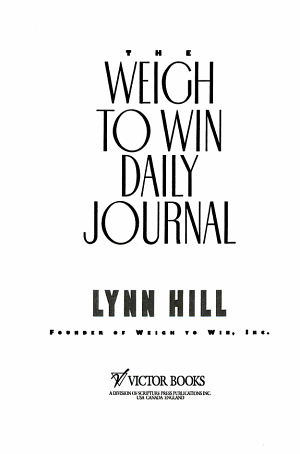 The Weigh to Win Daily Journal
