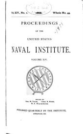 Proceedings of the United States Naval Institute: Volume 14