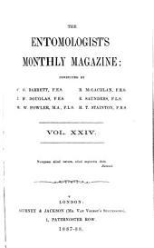 The Entomologist's Monthly Magazine: Volumes 24-25