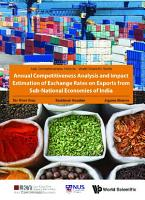 Annual Competitiveness Analysis And Impact Estimation Of Exchange Rates On Exports From Sub national Economies Of India PDF