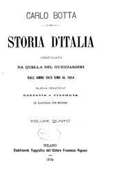 Storia d'Italia, continuata da qella del Guicciardini dall'anno 1513 sino al 1814: Volume 5