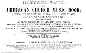 Taylor s Sacred Minstrel  Or  American Church Music Book PDF